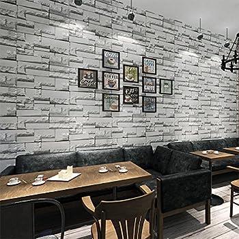KINLO® Tapeten Stein 3D 10M x 0.53M Dunkle Grau TOP Steintapete ...