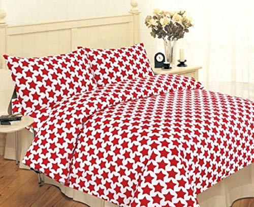 Linensrange Odeur® Bettwäsche-Set, modernes Einhorn, Polyester, Baumwolle, Pink/Grau/Duck Egg (Einzelbett, Doppelbett), Star Plus, King Size