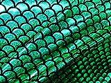 Jersey Mermaid Maßstab Stoff Fisch Tale Folie Spandex Lycra 2Wege Stretch Material 150cm breit 7Farben (Meterware)