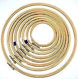 Bastidores/aros de madera dorados para punto de cruz y bordado (10 - 45 cm), color oro, 8' - 20 cm