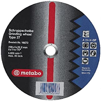 Metabo 616730000 616730000-Disco de desbaste para Amoladora Angular Flexiamant A24-N Metal embutido Ø 125 x 6 x 22,22 mm (Envase de 25 Ud)
