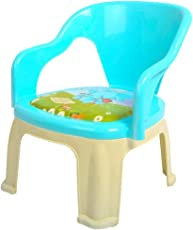 Kidzvilla Pop N up Strong Durable Baby Plastic Chair for Kids, 35x30x30cm (Blue)