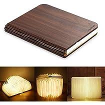 RegeMoudal LED Livre Lampes Pliante Rechargeable par USB Lumière Magnétique avec Batterie Lithium en Bois en Papier Dupont Imperméable Lampe de Bureau