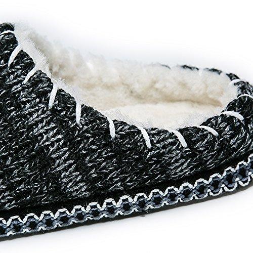 JACKSHIBO Uomo Ragazze Antiscivolo Scarpe da Casa Primavera Autunno Inverno Comodissime Pantofole Caldo Pantofole grigio1