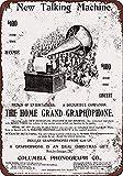 Toddrick 1899 Gramophone Talking Machine Tin Chic Sign Bar Vintage Style Cuisine rétro Pub Café Café Décor 8'x 12'