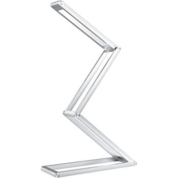 AUKEY Rechargeable Desk Lamp, Portable Dimmable LED Table Lamp with 2 Brightness Levels, Aluminum Alloy Folding Lamp for Reading, Studying, Working