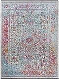 Benuta Flachgewebeteppich Ian Multicolor 80x145 cm - Vintage Teppich im Used-Look