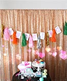 trlyc 240cm x 240cm Shimmer Pailletten Stoff Fotografie Hintergrund für Hochzeit auf Verkauf Farben sind erhältlich, Sonstige, rose gold, 96'*96' Pailletten Hintergrund