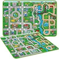 Marko Giant Kids City Playmat Fun Town Cars Play Road Carpet Rug EVA Foam Toy Mat