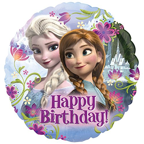 zen Happy Birthday, ca. 45 cm (Disney Frozen Birthday Ballons)