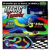 MAGIC TRACK - Circuit lumineux - 3,35 mètres, modulable et brillant dans le noir - Vu à la Télé