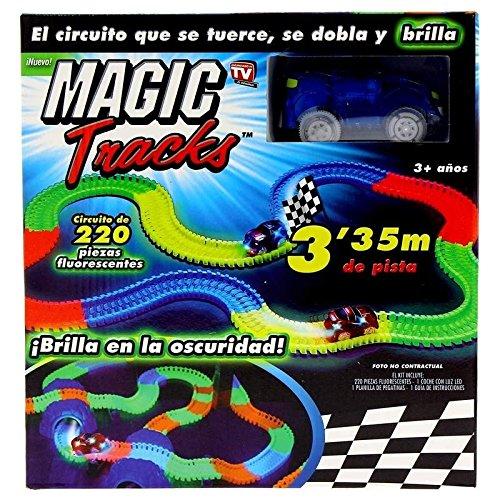 Circuit lumineux et flexible pour voiture - Magic Tracks - brillant dans le noir
