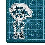WOZOW Stanzschablone Scrapbooking für Cricut Cuttlebug Grußkarte Geschenk Verpackung Dekoration Karikatur Stanzen Schneiden Schablonen Stanzformen (H Junge)