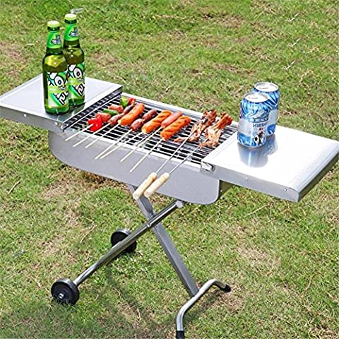 Stainless Steel Outdoor Barbecue Pits Car Portable Barbecue Grill Folding