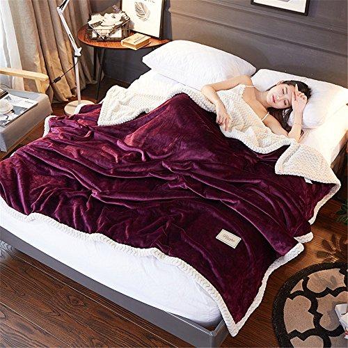 Lalaky Decke Dünne Handtücher Im Sommer, Die Decken Für Geringes Nap Decke Dicke Coral Samt Doppelzimmer mit Klimaanlage und Sofa und, 180 cm X 200 cm (Seide Samt Decke)