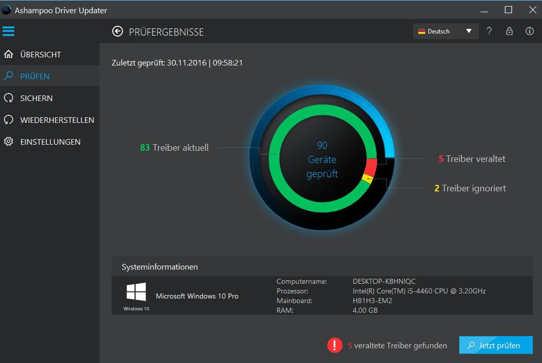Ashampoo Driver Updater 1.1 - 3 PC 1 Jahr [Download] - 4