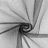 Fabulous Fabrics Tüllstoff - Schwarz – Leichter, elastischer Tüll zum Nähen von Röcken, Kleidern und Deko Wie Säckchen, Läufer und Tischröcke - Meterware ab 0,5m