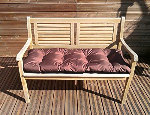 Gartenbankauflage Bankkissen Sitzkissen Polsterauflage Sitzpolster TP3 Braun 150x50x8-12 cm