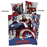 Avengers Wende Bettwäsche Set 135x200cm + 80x80cm, Baumwolle, Civil War