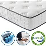 Vesgantti 4FT Small Double Mattress, 9.8 Inch Pocket Sprung Mattress Small Double with Breathable Foam and Individually Pocket Spring - Medium Plush Feel, Upgraded Tight Top Collection