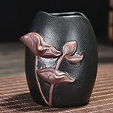 KEQB Lila Sand Tee-Zeremonie Sechs Gentlemen's Set Ebenholz Tee Produkte Zubehör, Mail, kreative kleine Mönch Tee Kunst Dekoration, Lotus Blatt Tee