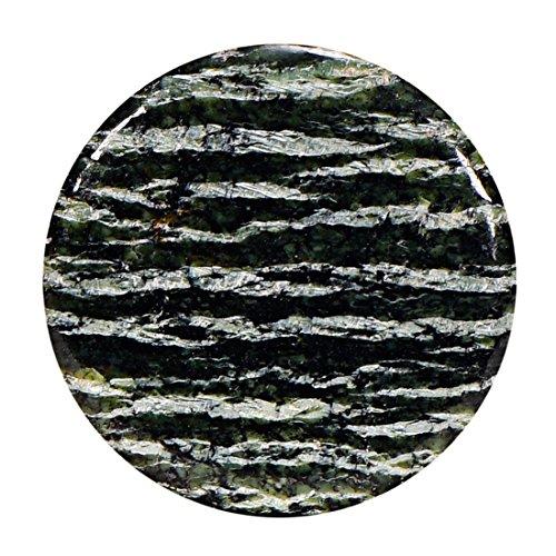 Morella Damen SMALL Coin 23 mm Edelstein Jaspis Chakren Scheibe Halsketten Anh