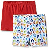 Disney Mickey Mouse Boys' Shorts (Pack of 2)(GB16-089AKBSR2P_3/4_Multicolour)