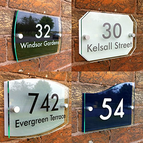 Premium Acrylic House Sign with House Number and Street Name (Form-acryl-plakette)