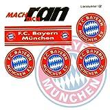 FC BAYERN MÜNCHEN Aufkleber / Sticker / Gesichtaufkleber FCB etiqueta engomada / autocollant