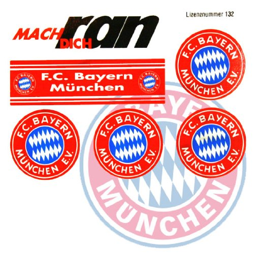 FC BAYERN MÜNCHEN Aufkleber / Sticker / Gesichtaufkleber FCB etiqueta engomada / autocollant - Dynamo-fußball-jersey