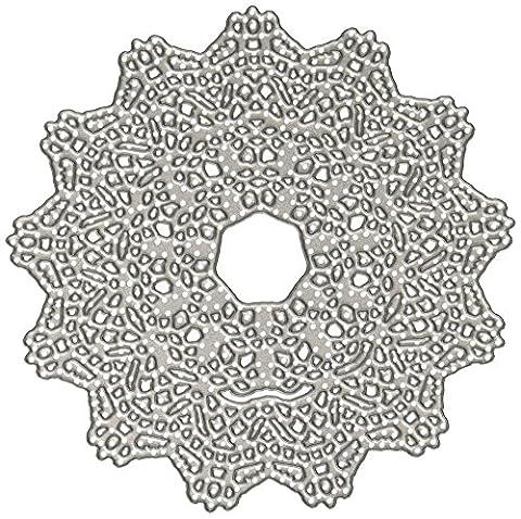 Sizzix 661498 Thinlits Die Matrice Napperon par Tim Holtz Acier Carbone Multicolore 19 x 14,5 x 0,5 cm 2 Pièces