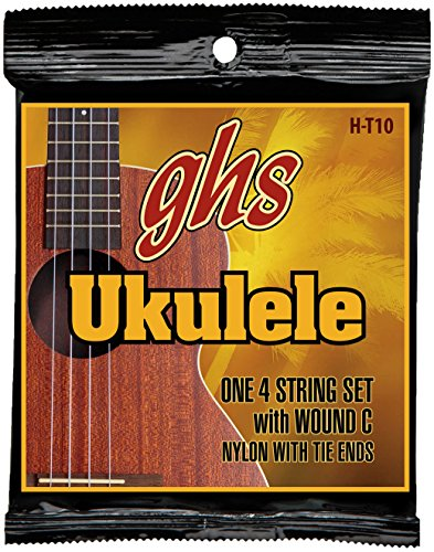 ghs H T10 Hawaiian Tenor Ukulele Nylon String schwarz