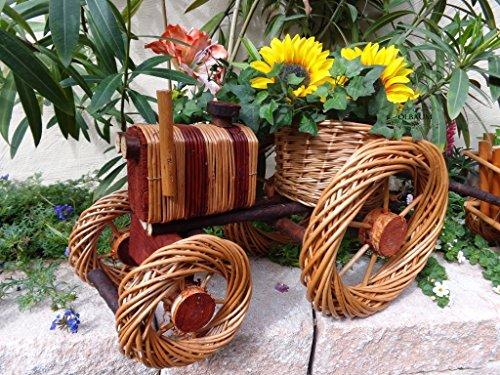 XL Traktor, 50 cm, aus hochwertigem Korbmaterial, Korbgeflecht, Rattan, Weinkörbe, Weidenkorb, Pflanzkorb, Blumentopf, Blumentöpfe, Holzschubkarre, Pflanztrog, Pflanzgefäß, Pflanzschale, Blumentopf, Pflanzkasten, Übertopf, Übertöpfe, Pflanztrog, Pflanztopf Blumentopf, Holz, Blumentopf, Pflanzgefäß, Pflanztöpfe Pflanzkübel