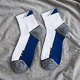 WXMDDN Basketball Socken 20 Paare/Herrensocken/Rohr Outdoor-Handtuch Boden Sportsocken/Sportsocken/Casual Sport im Freien warm,weiß blau 20 Paare
