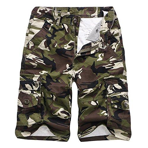 UFACE Jeans Kurze Hose Damen Weiß Kurze Hose Damen Rot Kurze Hose Damen Stoff Kurze Hose Herren Freizeit Camouflage Pocket Beach Work Kurze Hose Cargo Shorts Hose