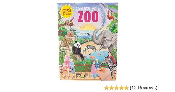 Depesche 5376 - Malbuch Create your Zoo mit Stickern: Amazon.de ...