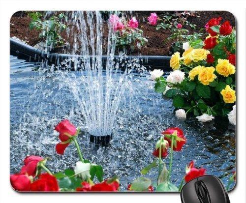 Füllfederhalter und Blumen Mauspad, Mousepad (Wasserfälle Maus Pad)