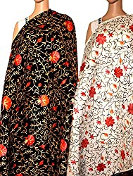 Holi Sale- Set of Two Beautiful Embroidery shawl for women