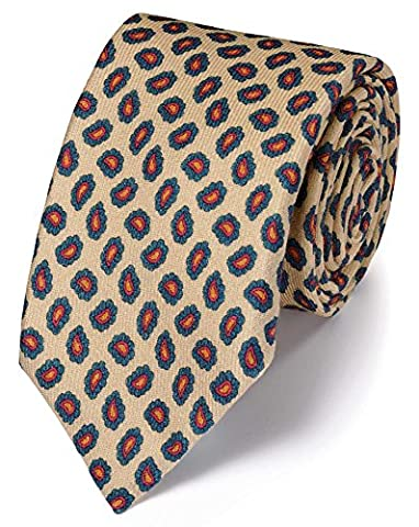 Stone Silk Print Luxury Tie by Charles