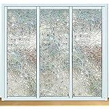 Película decorativa para ventana 3D no adhesiva, de privacidad, estática, con patrón de colores arcoíris, 45 cm x 200 cm