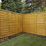 5ft x 6ft Waltons Horizontal Overlap Pre-Treated Wooden Garden Fence Panels