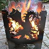 Feuerschale Drache Gr.XXL SvenskaV Feuerstelle Feuerkorb Blumenschale Blumentopf
