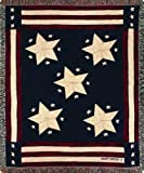 Manual Patriotic Collection 50 x 60-Inch Tapestry Throw, Long May It Wave X Cindy Shamp by Manual Woodworker