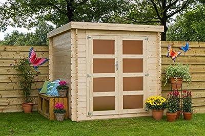 Gartenhaus / Blockhütte Fonteyn Elise Flachdach 221 x 190 cm Hochdruck imprägniert von Fonteyn auf Du und dein Garten