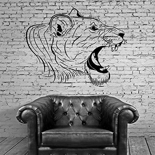 Kopf Vinyl Wandaufkleber Asiatische Große Katze Tribal Decor Wandbild Vinyl Kunst Aufkleber Hohe Qualität Tapete 2 56 * 89 cm