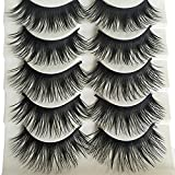 Bluelans� 5 Pairs Natural Long Fake Eye Lashes Thick False Eyelashes Black Makeup Tool