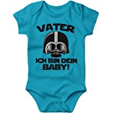 Mikalino Babybody mit Spruch für Jungen Mädchen Unisex Kurzarm Vater - ich Bin Dein Baby! | handbedruckt in Deutschland…