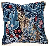 Ungewöhnlich Einzigartig Kissenbezug/ Kissenhüllen 45x45cm von Signare - Tapisserie Bunt Kissen Sofa - William Morris/The Hare CCOV-ART-MORRIS-4