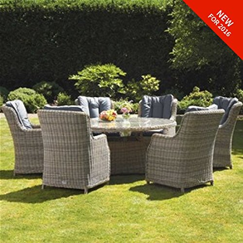 The Dining Rooms Oswestry: Virgina Water Garden Furniture 6 Seat Round Comfort Dining