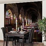 Apalis Vliestapete Küchentapete Lichter in der Moschee Fototapete Quadrat | Vlies Tapete Wandtapete Wandbild Foto 3D Fototapete für Schlafzimmer Wohnzimmer Küche | Größe: 192x192 cm, mehrfarbig, 97796